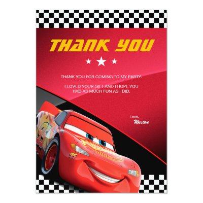 Cars Birthday Invitation – Lightning Mcqueen Birthday Card
