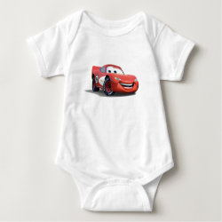 Baby Jersey Bodysuit with Lightning McQueen Ka-CHOW! design