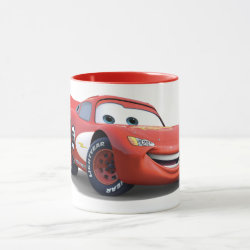Combo Mug with Lightning McQueen Ka-CHOW! design