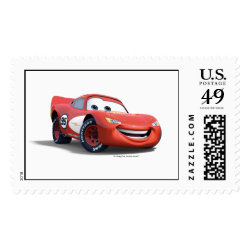 Large Stamp 2.5' x 1.5' with Lightning McQueen Ka-CHOW! design