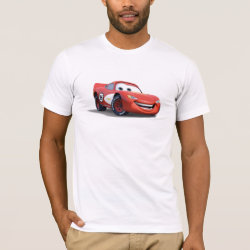 Men's Basic American Apparel T-Shirt with Lightning McQueen Ka-CHOW! design