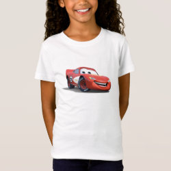 Girls' Fine Jersey T-Shirt with Lightning McQueen Ka-CHOW! design