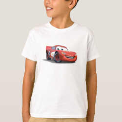 Kids' Hanes TAGLESS® T-Shirt with Lightning McQueen Ka-CHOW! design