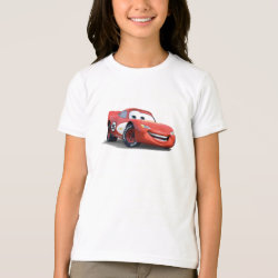 Girls' American Apparel Fine Jersey T-Shirt with Lightning McQueen Ka-CHOW! design