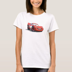 Women's Basic T-Shirt with Lightning McQueen Ka-CHOW! design