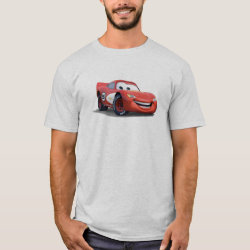 Men's Basic T-Shirt with Lightning McQueen Ka-CHOW! design