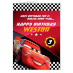 Cars Lightning Mcqueen | Folded Birthday Card at Zazzle