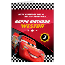 Cars Lightning McQueen | Folded Birthday Card