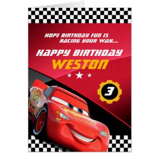 Cars Lightning McQueen | Folded Birthday Card