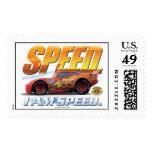 "Cars' Lightning McQueen ""I Am Speed"" Disney Stamp"