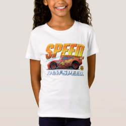 Girls' Fine Jersey T-Shirt with Lightning McQueen: I Am SPEED design