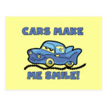 Cars Make Me Smile T-shirts and Gifts Postcard