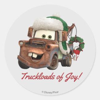 Cars | Mater In Winter Gear Classic Round Sticker