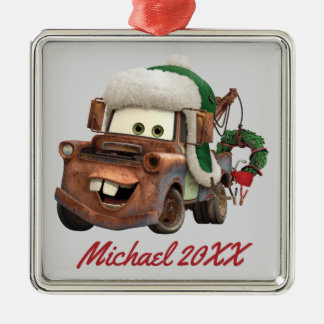 Cars   Mater In Winter Gear Metal Ornament