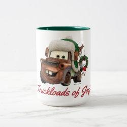 Two-Tone Mug with Disney Christmas Ornaments design