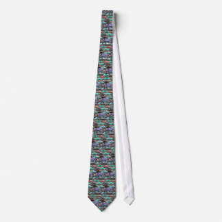 Cars of Cuba purple and teal Neck Tie