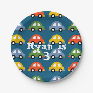 Cars paper plate