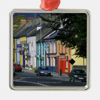 Cars parked in front of a building, Adare Metal Ornament