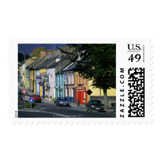 Cars parked in front of a building, Adare Postage