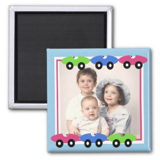 Cars/ Photo 2 Inch Square Magnet