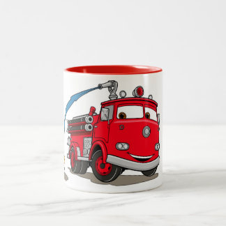 Cars Red Disney Two-Tone Coffee Mug