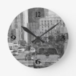Cars Round Wall Clock