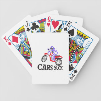 Cars Suck Bicycle Playing Cards