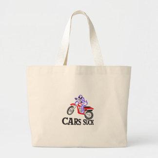 Cars Suck Large Tote Bag