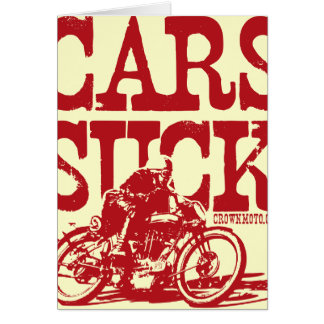 Cars Suck (vintage red) Greeting Card