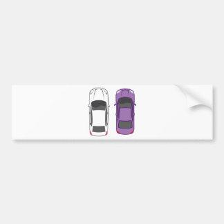 Cars Top View Bumper Sticker