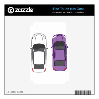 Cars Top View Skins For iPod Touch 4G