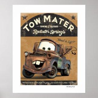 Cars' Tow Mater Disney print