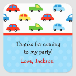Cars Trucks Birthday Party Favor Stickers labels
