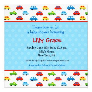 Cars Trucks Boys Baby Shower Invitations