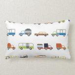 Cars Trucks & Busses Pattern Pillow