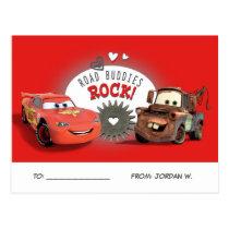 Cars Valentine Postcard