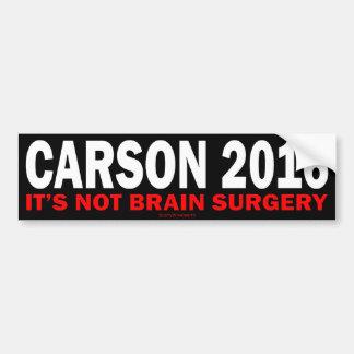 Carson 2016 etiqueta de parachoque