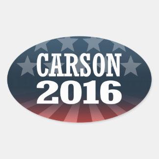 CARSON 2016 OVAL STICKER