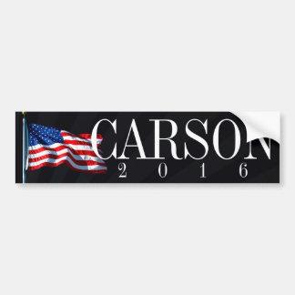 Carson 2016 políticos conservadores pegatina para coche
