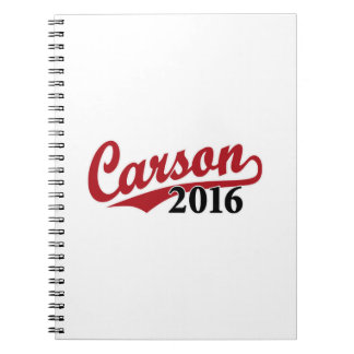Carson 2016 red notebook