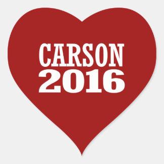 CARSON 2016 HEART STICKERS