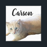"Carson Canvas Print<br><div class=""desc"">image of my kitty</div>"