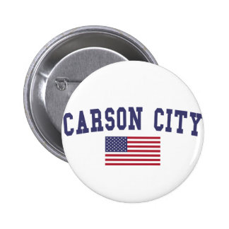 Carson City US Flag Button