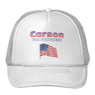 Carson for Congress Patriotic American Flag Trucker Hat