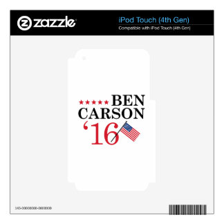 Carson For President iPod Touch 4G Skins