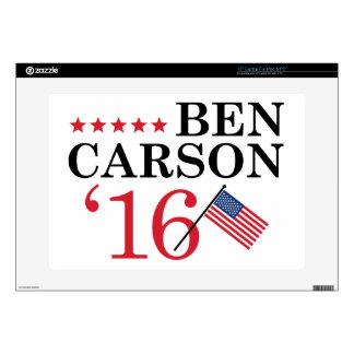 """Carson For President Skin For 15"""" Laptop"""
