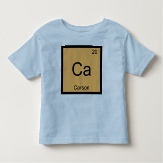 Carson Name Chemistry Element Periodic Table Toddler T-shirt