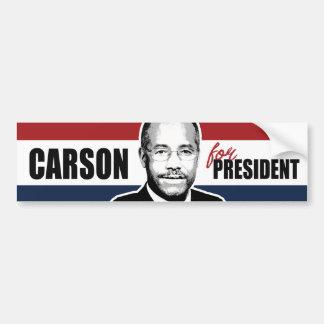 Carson para presidente Red White y el parachoque Pegatina Para Auto