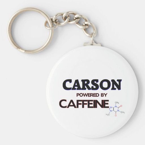 Carson powered by caffeine keychains