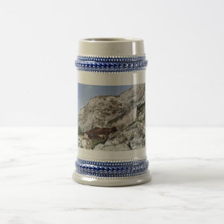 carstone and red chalk cliffs beer stein